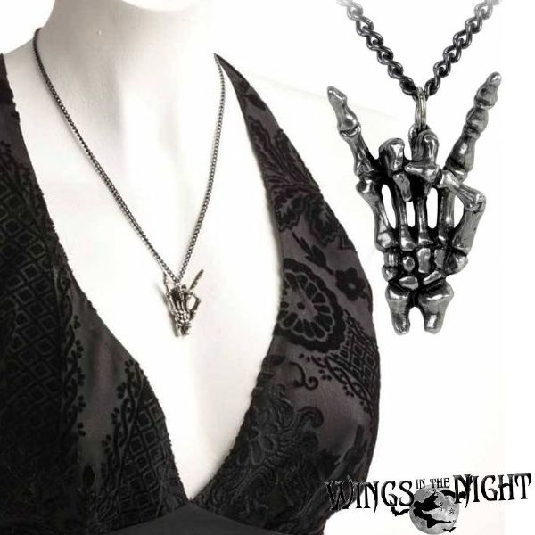 ALCHEMY GOTHIC  Maloik: Sign Of The Horns Necklace